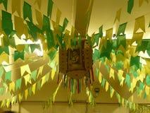 Saint John the Baptist festivity decoration. Photo of a traditional brazilian party decoration in honor of St. John the Baptist stock illustration