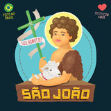 Saint John Baptist, honored in brazilian june parties - Ecce agn Royalty Free Stock Photography