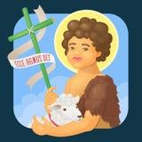 Saint John Baptist, honrado no brasileiro junho parties Imagem de Stock