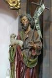 Saint John the Baptist. Bound Jesus altar in Parish Church of Saint Mary Magdalene in Donja Kupcina, Croatia stock images