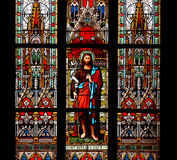 Saint John, the Baptist,stained glass window Royalty Free Stock Photo