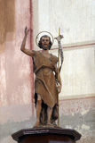 Saint John the Baptist. Statue on the altar in Parish Church of Saint Roch in Kratecko, Croatia Royalty Free Stock Photos