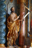 Saint John the Baptist. Statue on church altar Stock Images