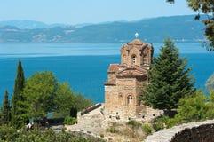 Saint John chez Kaneo dans Ohrid, République de Macedoni Photographie stock libre de droits