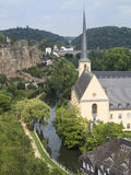 Saint John church in Grund Luxembourg 1 Stock Image