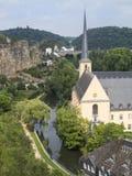 Saint John church in Grund Luxembourg 1 Stock Image