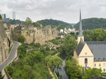 Saint John church in Grund Luxembourg2 Stock Images