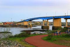 Saint John city bridge Royalty Free Stock Photography