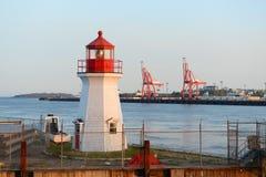 Saint John Coast Guard Base Lighthouse, NB, Canada Stock Image