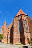 Saint John the Evangelist Cathedral (1384) in Kwidzyn town, Pola Stock Photo