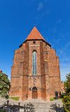 Saint John the Evangelist Cathedral (1384) in Kwidzyn town, Pola Stock Images