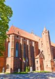 Saint John the Evangelist Cathedral (1384) in Kwidzyn town, Pola Royalty Free Stock Photos