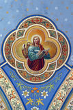 Saint John the Evangelist. Fresco on the ceiling of the church Royalty Free Stock Photo