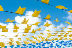 Saint John flags. Brazilian popular party Stock Photos