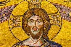 Saint John Florence Italy de Jesus Christ Mosaic Dome Bapistry imagem de stock royalty free