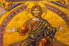 Saint John Florence Italy de Jesus Christ Mosaic Dome Bapistry imagens de stock royalty free