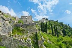 Saint John fortress in Kotor Royalty Free Stock Photo