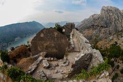 Saint John fortress in Kotor, Montengro Royalty Free Stock Image