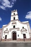 Saint John of God Church in Cuba. Facade of the colonial Saint John of God Church Iglesia de Nuestra Senora de la Merced, Camaguey in Cuba royalty free stock photo