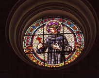 Saint John of God Stained Glass Basilica Cathedral Andalusia Gra Stock Images