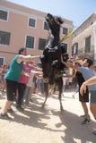 Saint john horse festivity in minorca Royalty Free Stock Photos