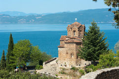 Saint John At Kaneo In Ohrid, Republic Of Macedoni Royalty Free Stock Photography