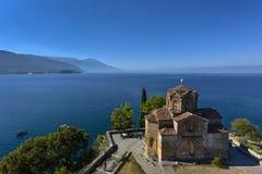 Saint John - Kaneo, Orthodoxe Kerk in Ohrid riep ook Sveti Heilige Jovan Kaneo, Macedonië stock afbeeldingen