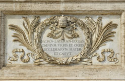 Saint John in Lateran Basilica in Rome, the most important churc Royalty Free Stock Images