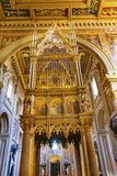 Saint John Lateran Cathedral Rome Italy de basilique de ciboire de haut autel photo libre de droits