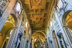 Saint John Lateran Cathedral Rome Italy de basilique d'autel photographie stock