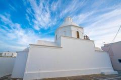 Saint John na ilha de Santorini em Grécia, um dos destinos os mais bonitos do curso do mundo Lugar Karterados foto de stock