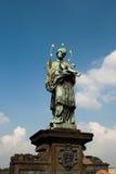 Saint John Nepomucen. Monument of Jonh Nepomucen in Pracha, Czhech Republic, Europa Royalty Free Stock Photo