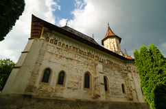 Saint John the New Monastery in Suceava, Romania. Saint John the New Monastery, dedicated to Saint John the New of Suceava.The monastery church of St. George is Royalty Free Stock Photo