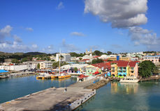Saint John`s in Antigua island Royalty Free Stock Photography