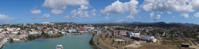 Saint John´s - Antigua. View from cruise Terminal Saint John´s - Antigua stock image