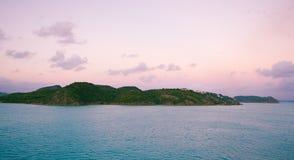 Saint John`s harbor at sunrise - Antigua and Barbuda Stock Image