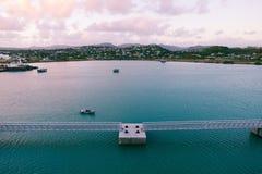 Saint John`s harbor at sunrise - Antigua and Barbuda Stock Photography