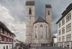 Saint Johns parish church in Rapperswil stock photos