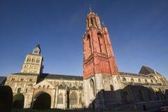 Saint John and Servaas churches in Maastricht, Holland Stock Photos