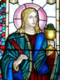 Saint John. Stained Glass image of St. John Royalty Free Stock Photography