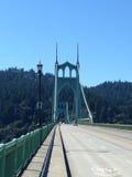 Saint Johns Bridge Portland Oregon stock photos
