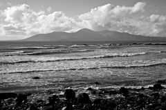 Saint Johns Point. A monochrome image of the beach at St. John's Point in County Down, Northern Ireland royalty free stock photos