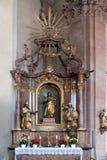 Saint Joseph altar in Our Lady church in Aschaffenburg, Germany.  Stock Photos