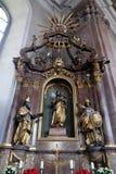 Saint Joseph altare i vår damkyrka i Aschaffenburg, Tyskland Royaltyfri Bild