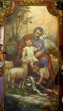 Saint Joseph with baby Jesus stock image