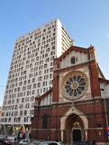 The Saint Joseph Cathedral and Cathedral Plaza Royalty Free Stock Photography