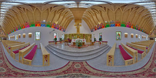 Saint Joseph Catholic Church Interior, ralja do ¡ de Zetevà (Cetate secundário), Romênia Imagem de Stock