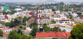 Saint Joseph church Toluca. View of the Saint Joseph church in Toluca Mexico, shot take from the calvario mount, famous old church in toluca mexico royalty free stock image
