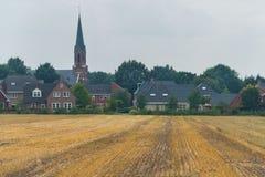 Saint Joseph Church in Vasse, Twente, the Netherlands. Taken from the fields around Vasse royalty free stock photography