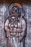 Saint Joseph die kind Jesus houden Stock Foto